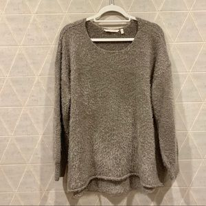 Soft Surroundings fuzzy metallic high low sweater